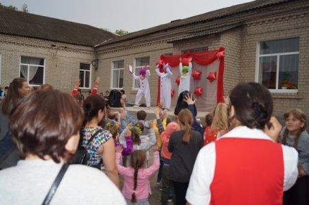 02.10.2018 года в Доме детского творчества состоялось открытие «Юбилейной звезды» и детский праздник «Дом окнами в детство».
