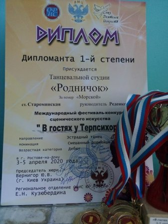 Дипломанты Международного фестиваля.